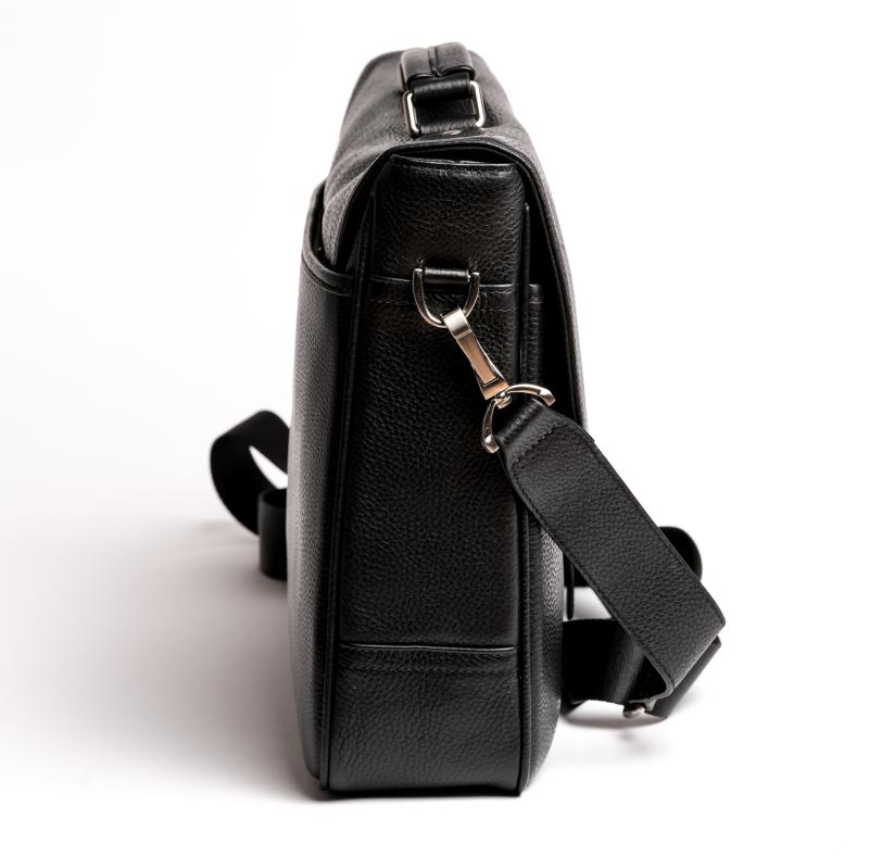 Schwarze Aktentasche Leder