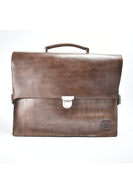 MONVALI Mens Premium Briefcase Leather Set Incl. Wallet